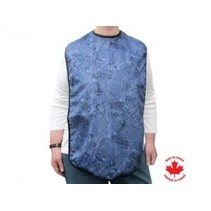 DENIM LOOK CLOTHING PROTECTOR with TIES