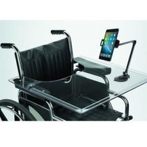 SUPPORT ULTRALEGER DE CTA DIGITAL POUR TABLETTES ET TELEPHONES INTELLIGENTS MUNI D'UNE PINCE ET D'UNE BASE A VENTOUSE