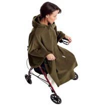 FLEECE MOBILITY CAPE  OLIVE -    ONE SIZE