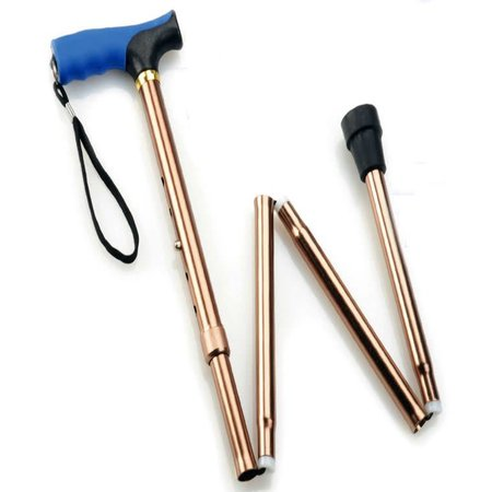 MOBB FOLDING CANES  BLACK W/BLUE HANDLE   81CM - 91CM
