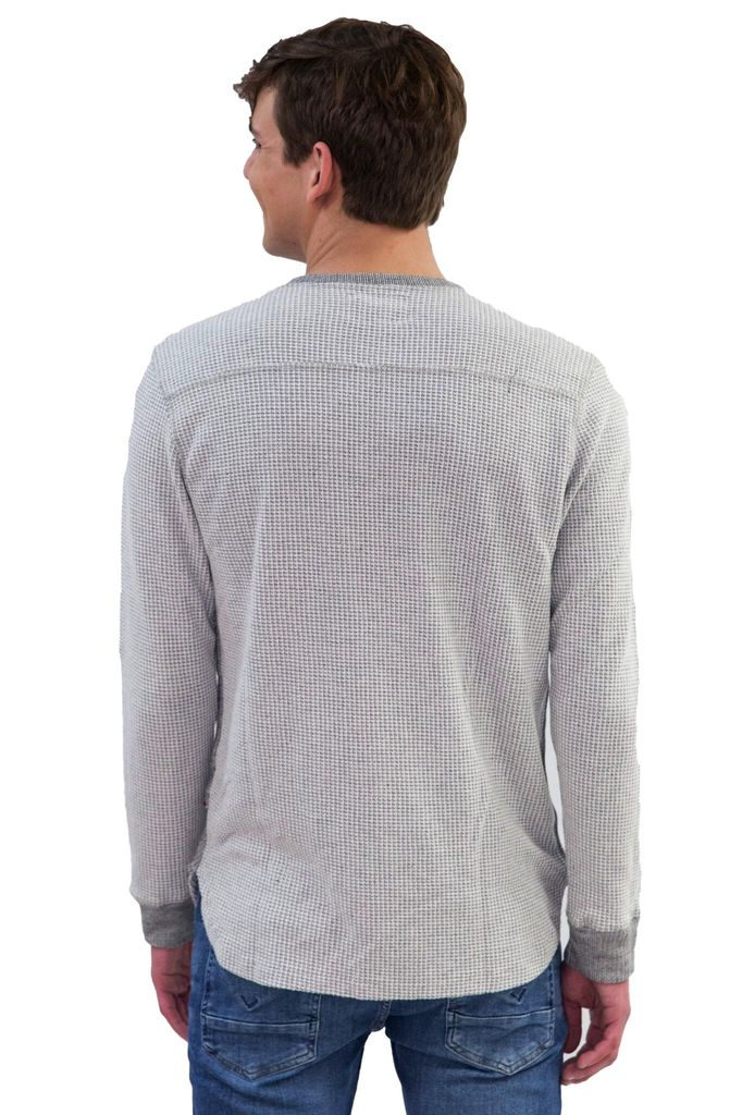 Sol Angeles Two Tone Thermal Henley with Buttons
