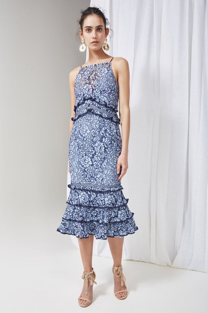 KEEPSAKE Catch Me Lace Midi Dress