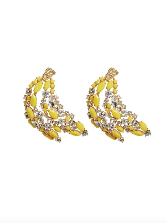 For Love & Lemons Amarillo Earroings in Canary Yellow