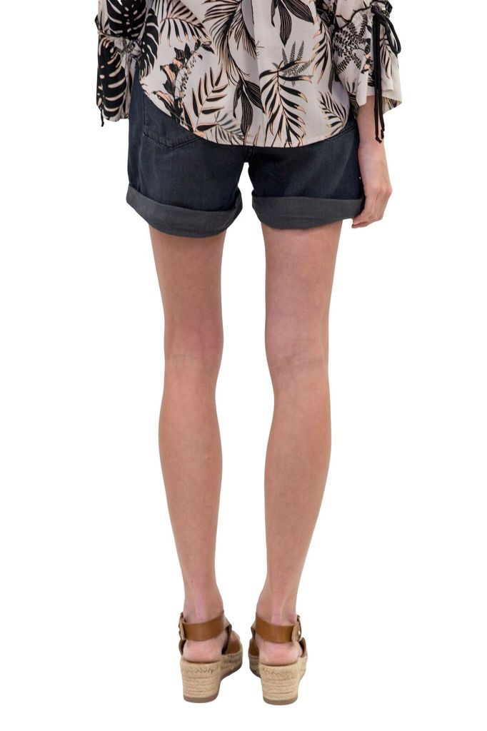 ONE Teaspoon Fox Black Legend High Waist Mom Fit Shorts