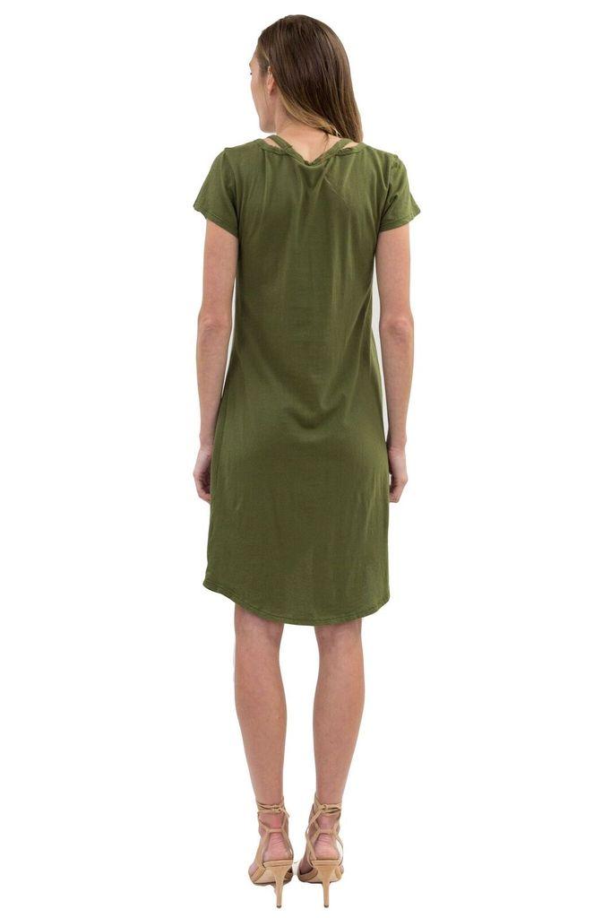 BOBI Bottom Twist T Shirt Dress