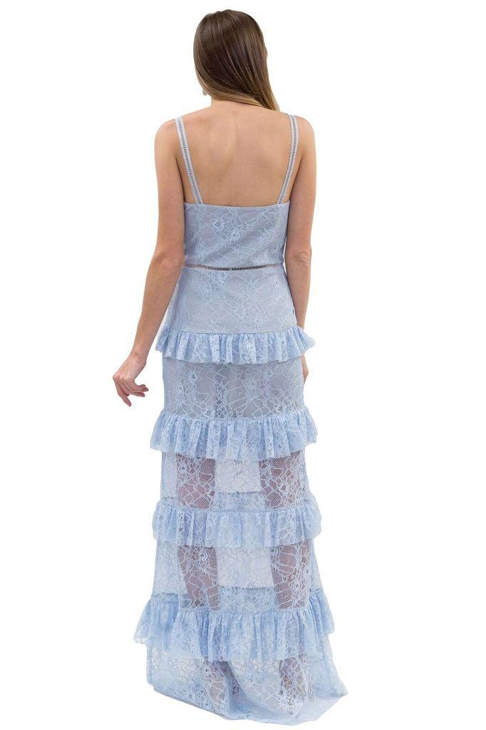Forever Unique Bellini Blue Lace Dress