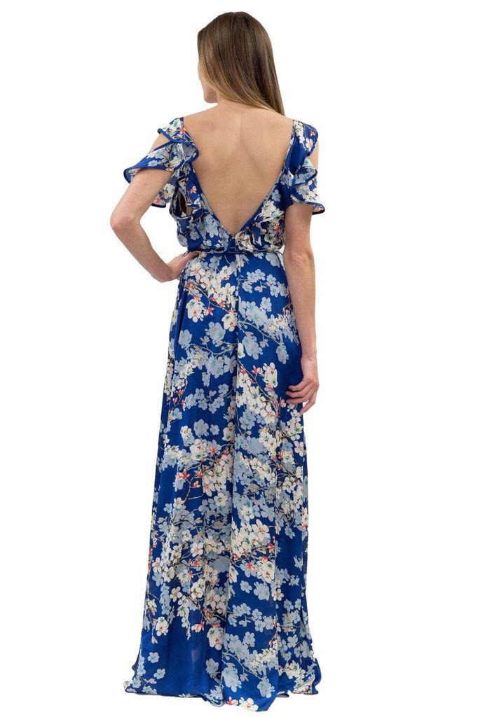 Forever Unique Rita Blue Floral Print Dress