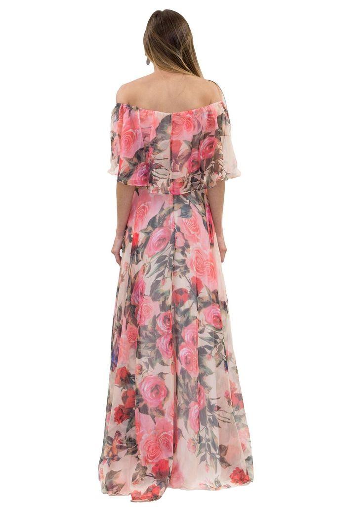 Forever Unique Bardot Pink Floral Dress