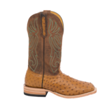 Fenoglio Boot Co. Antique Saddle Tan Full Quill Ostrich w/ Tan Sage Brush