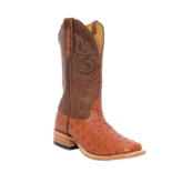 Fenoglio Boot Co. PB Full Quill Ostrich w/ Cognac Bios