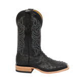 Fenoglio Boot Co. Black Full Quill Ostrich w/ Black Glazed Goat
