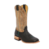 Fenoglio Boot Co. Black Twisted Bullhide w/ Tan Road