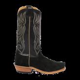 Fenoglio Boot Co. Black Victoria Roughout w/ Black Glazed Goat
