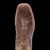 Fenoglio Boot Co. Brown American Gator w/ Brown Smooth Italian