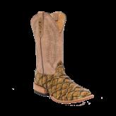 Fenoglio Boot Co. Burnished Gold Arapaima w/ Beige Chievo