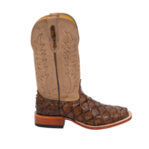 Fenoglio Boot Co. Chocolate Arapaima w/ Tan Victoria