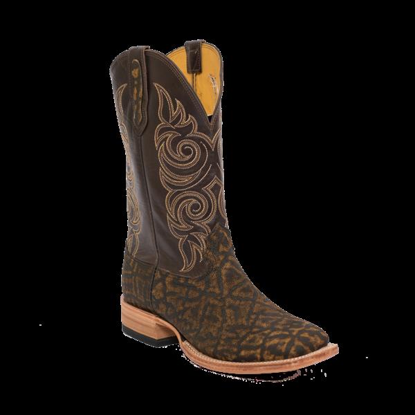 Fenoglio Boot Co. Tan Safari Elephant w/ Nicotine Oil Pull Up