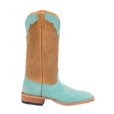Fenoglio Boot Co. Tiffany Blue Roughout w/ Cognac Tan