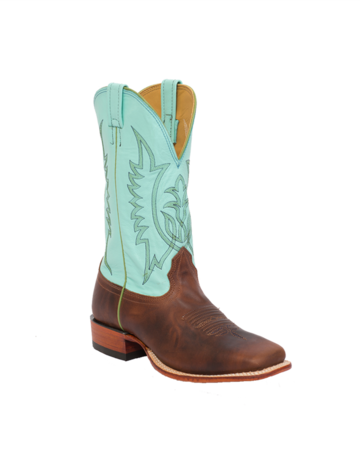 Fenoglio Boot Co. Fuji Tan w/ Tiffany Blue