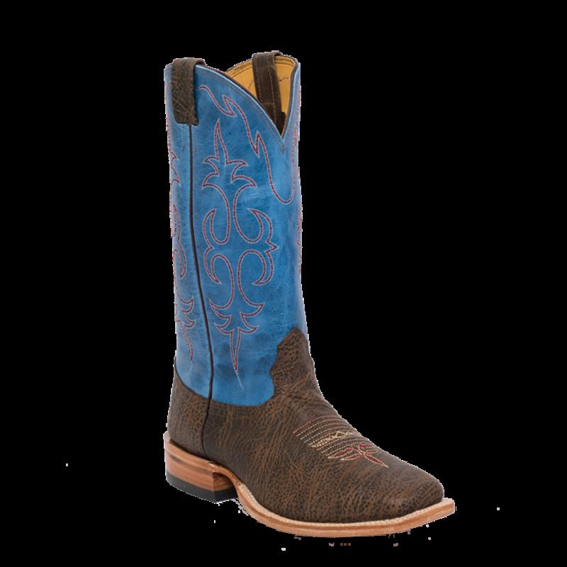 Fenoglio Boot Co. Desert Snake Bison w/ Sky Blue