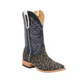 Fenoglio Boot Co. Grey Safari Elephant w/ Blue Bios