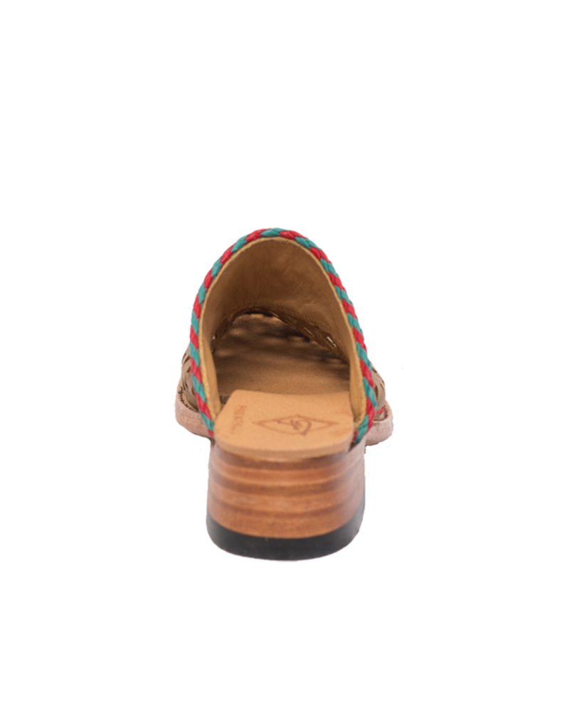 Brown Window Ostrich Shoe