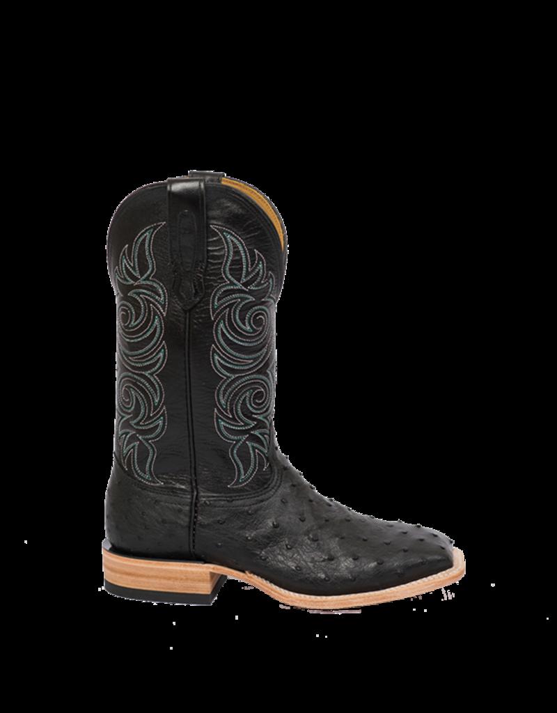 Fenoglio Boot Co. Black Full Quill w/ Black Glazed Goat