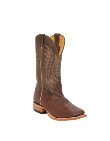 Fenoglio Boot Co. KT Smooth Ostrich w/ Brown Mezkite