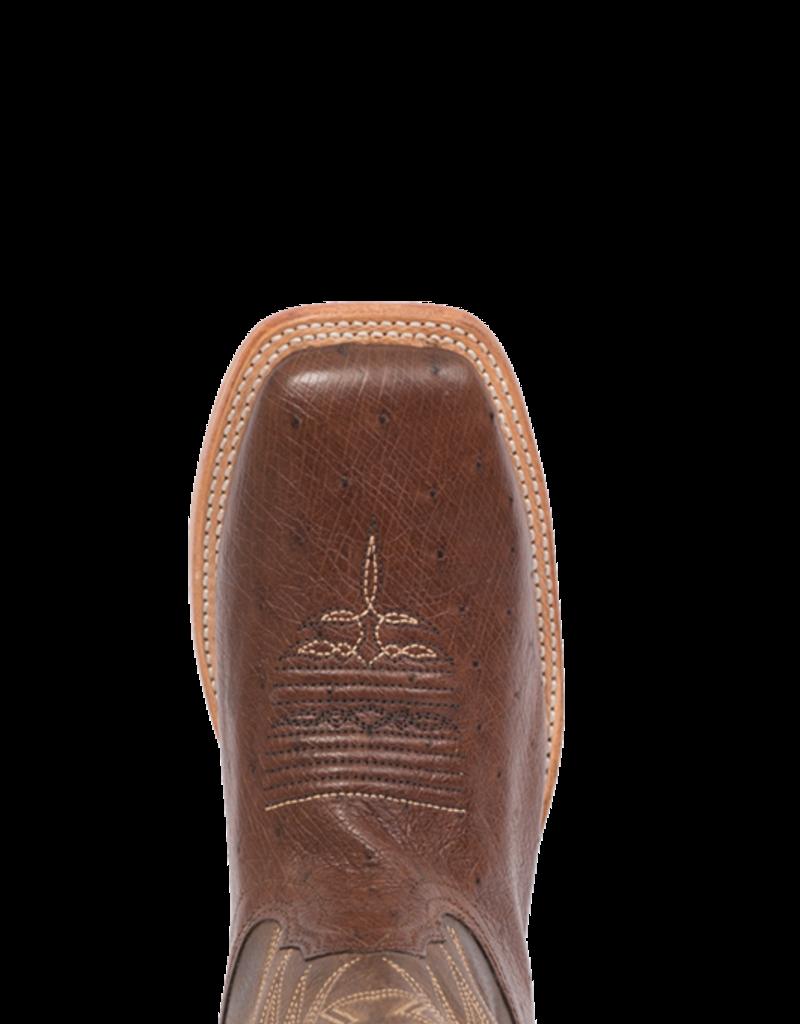 Fenoglio Boot Co. KT Smooth Ostrich w/ Brown Mezkite