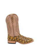Fenoglio Boot Co. Burnished Gold Arapaima w/ Beige Chievo