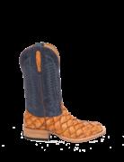 Fenoglio Boot Co. Cognac Arapaima w/ Blue Troya