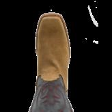 Fenoglio Boot Co. Natural Rowdy Roughout w/ Black Victoria
