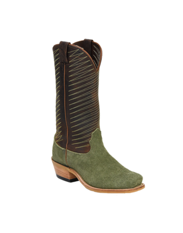 Fenoglio Boot Co. Olive Roughout w/ Whiskey