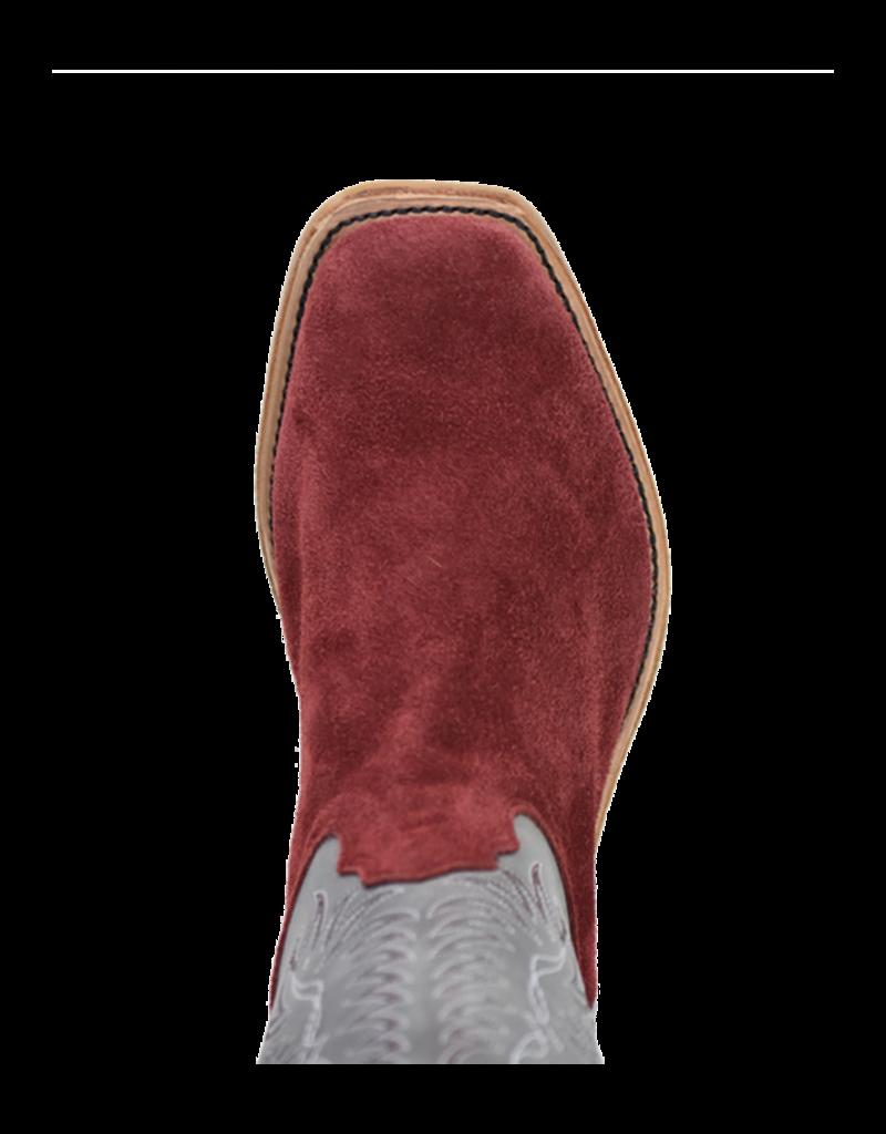 Fenoglio Boot Co. Burgundy Roughout w/ Blue Eagle