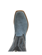 Fenoglio Boot Co. Carolina Blue Roughout w/ Black Glazed Goat