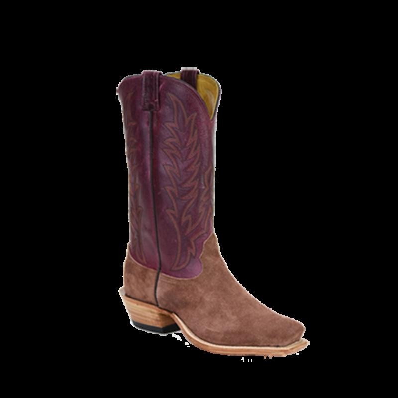 Fenoglio Boot Co. Mauve Roughout w/ Plum