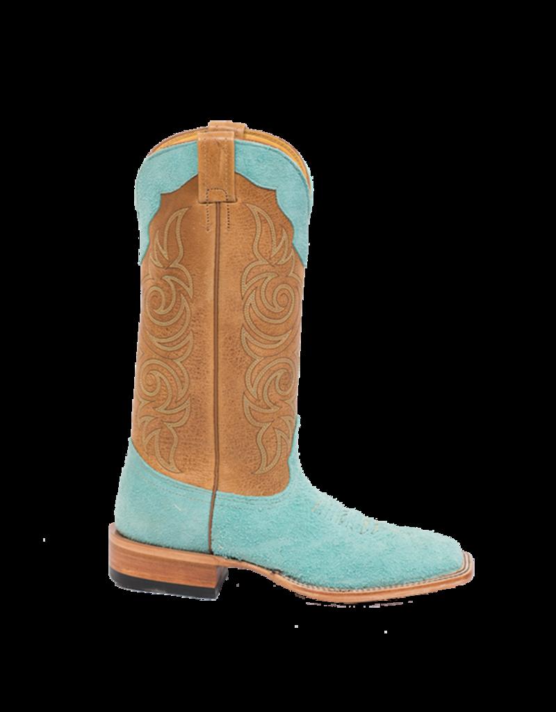 Fenoglio Boot Co. Tiffany Blue Roughout w/ Cognac Full Hide