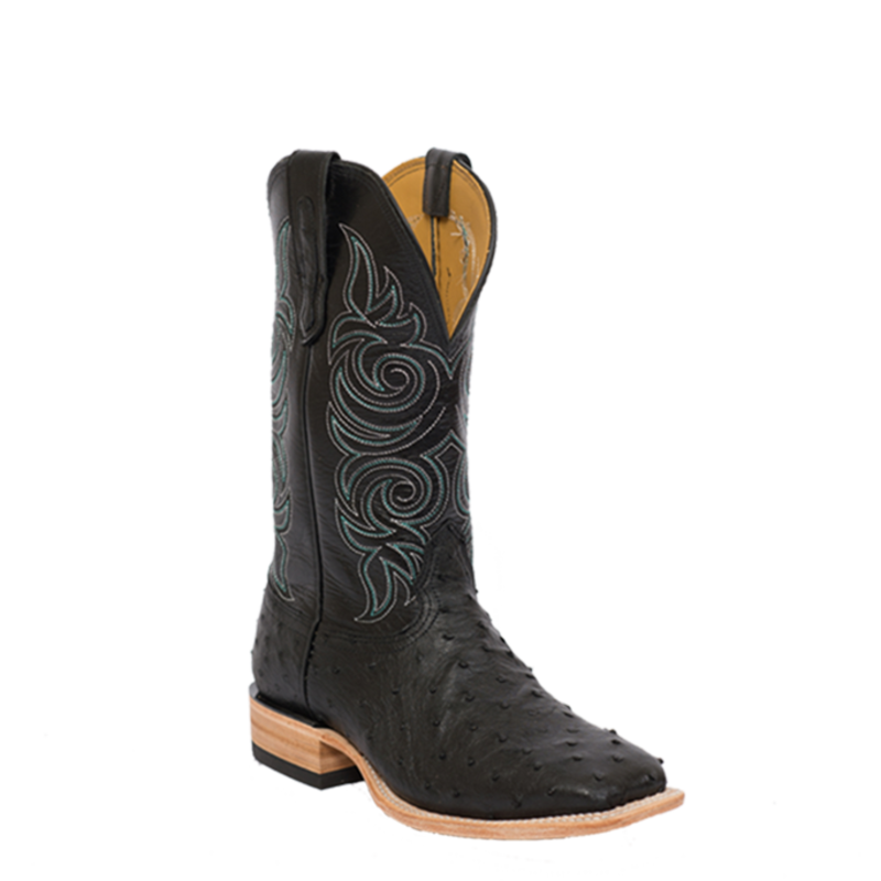 Fenoglio Boot Co. Black Full Quill w/ Black Glazed Goat
