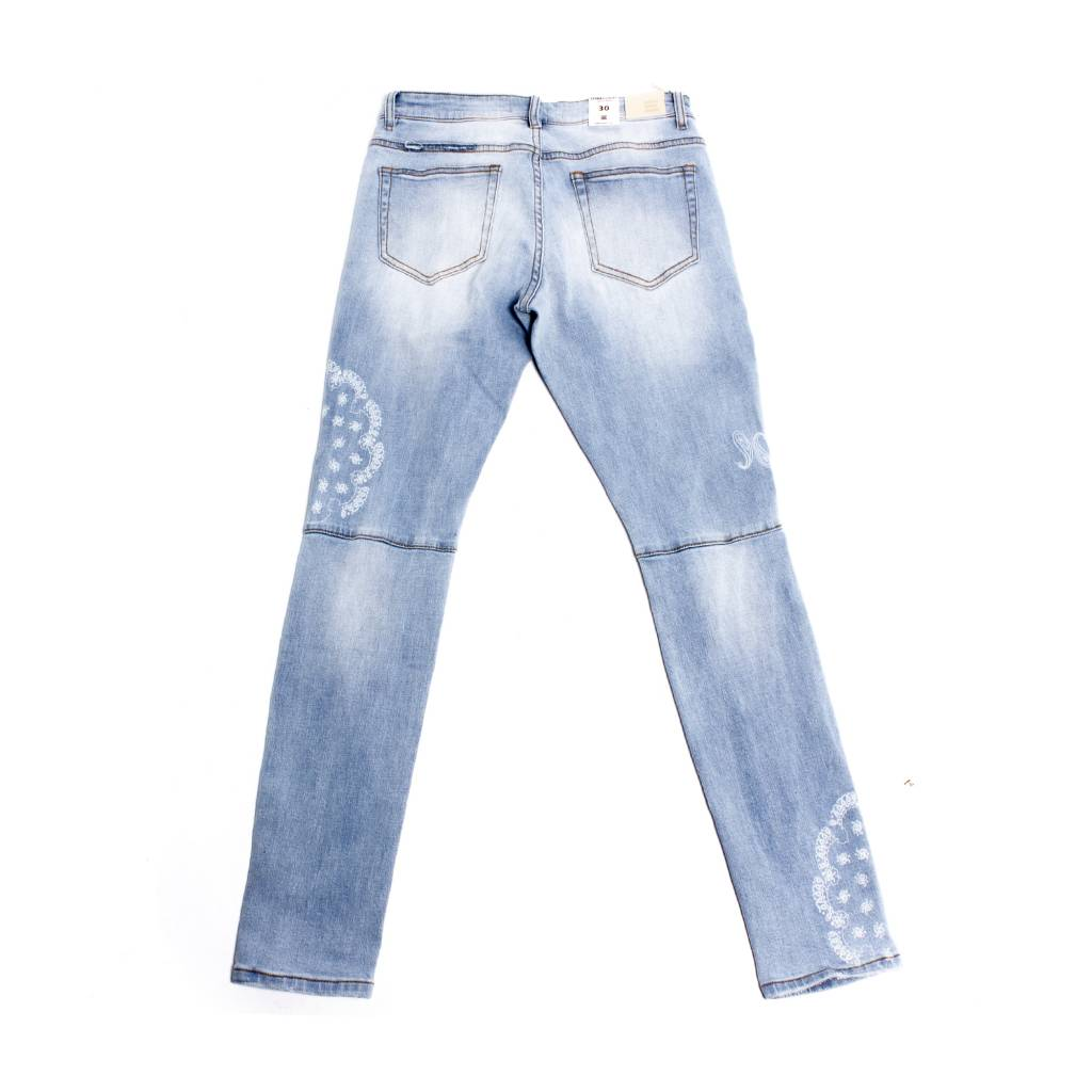 Embellish Denim Embellish Atlas Denim Blue Paisley