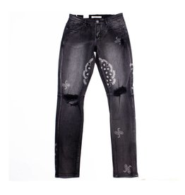 Embellish Denim Embellish Atlas Denim Charcoal Paisley