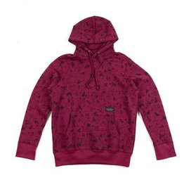 Raised By Wolves Raised by Wolves Riot Hoody Burgandy