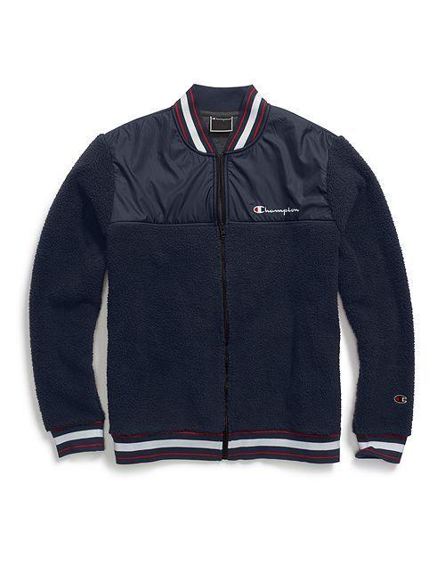 Champion Champion Sherpa Baseball jacket Black