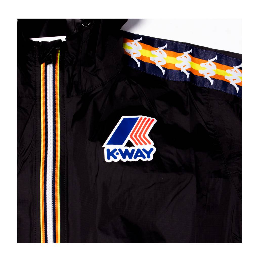 kappa Kappa x Kway Pierrik Water Proof Jumpsuit Black