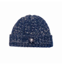 Jugrnaut Jugrnaut Ribbed Wool Shield Beanie Navy