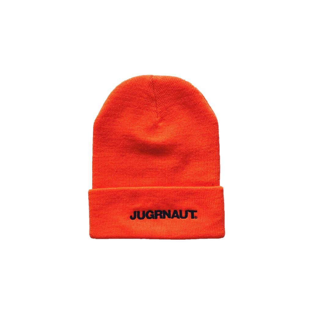 Jugrnaut Jugrnaut Bold Text Logo Thinsulate Beanie Orange OSFM