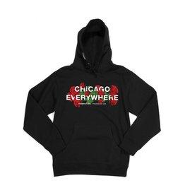 Jugrnaut Jugrnaut Chicago Everywhere Roses Black Heavyweight Hoodie