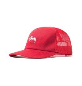 Stussy Stussy Stock Logo Trucker Cap Red