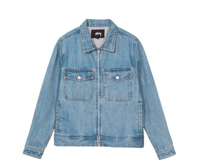 Stussy Stussy Denim Garage Jacket Zip Blue