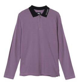 Stussy Stussy LION LS ZIP POLO Purple
