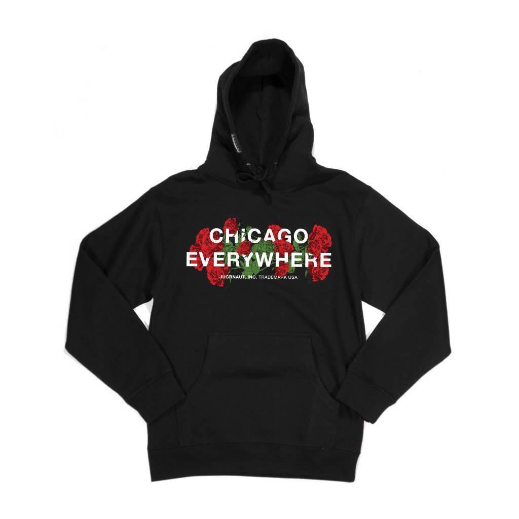 Jugrnaut Jugrnaut Chicago Everywhere Roses Light Hoody